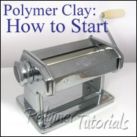 How to start working with polymer clay, free instructions from Eugena Topina. #Polymer #Clay #Tutorials