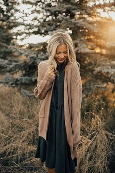 Fashion Outfits Cardigan activationFall Fashion Outfits Cardigan activation Now or Never Ribbed Dress Spring Outfit Women, Winter Outfits For Teen Girls, Fall Winter Outfits, Autumn Winter Fashion, Winter Style, Modest Winter Outfits, Casual Winter, Modest Church Outfits, Dress Winter