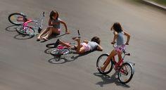 Bike road accident