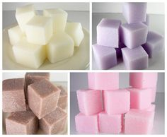 Soapy Sugar Cube Scrubs tutorial available for instant download on Craftsy.