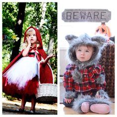 Halloween costume ideas                                                                                                                                                     More Brother Sister Halloween, Brother Sister Costumes, Baby Wolf Costume, Baby Boy Costumes, Little Boy Costumes, Big Bad Wolf Costume, Sibling Costume, Baby Halloween Costumes, Halloween 2017
