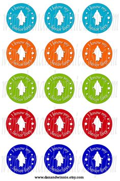 Primary 2015 Theme Bottle Cap Graphics for keychains, zipper pulls, etc. Love these!!! (Boy colors)