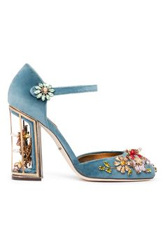 Fall 2014 Dolce & Gabbana  This almost did not make 'The Dream' with that faded baby blue. It would be so much better in the deep sea turquoise I've been spotting all over shoe collections for Fall 2014.
