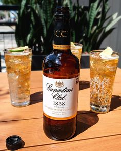 CC & Ginger Ale season is starts in Summer and lasts all year round ☀️ That's Refreshing! Canadian Food, Ginger Ale, Cocktails, Drinks, Whisky, Whiskey Bottle, Cheers, Alcohol, Seasons