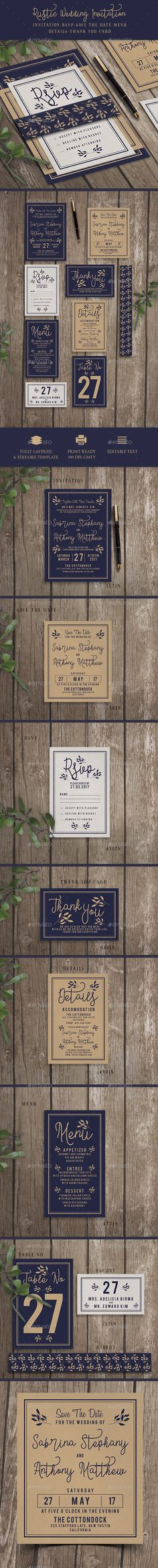 Wedding Invitation — Photoshop PSD #wedding invitation #beautiful • Download ➝ https://graphicriver.net/item/wedding-invitation/19845665?ref=pxcr