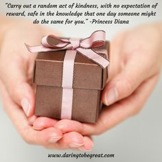 Creating kind intentions in your life and thus affecting positive change in the world.
