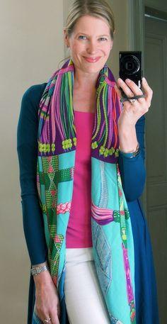 Hermès cashmere shawl ~ Ceintures et Liens