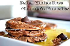 Gluten free Chocolate Paleo Banana Pancakes