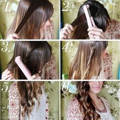 DIY - Beach Waves with Hair Straightener Tutorial diy diy crafts do it yourself diy art diy tips diy ideas diy beach waves with hair straightener tutorial easy diy
