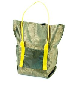 Mimot Studio - Nylon Book Tote- Tan/Yellow | VAULT