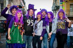 Baltimore Ravens purple hair!