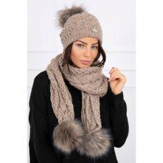 Moderná a štýlová čiapka a šál s brmbolcami vo veľkosti UNI Winter Hats, Uni, Fashion, Moda, La Mode, Fasion, Fashion Models, Trendy Fashion
