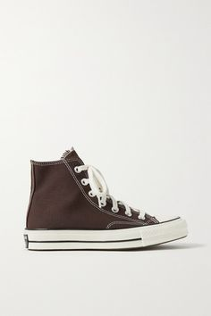 High Top Converse, Brown Converse, Converse Chuck Taylor All Star, Converse Shoes, High Top Sneakers, Brown Canvas, Girls Sneakers, Shoe Game, Cute Shoes