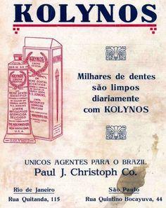 Iba Mendes: Anúncios antigos do creme dental Kolynos
