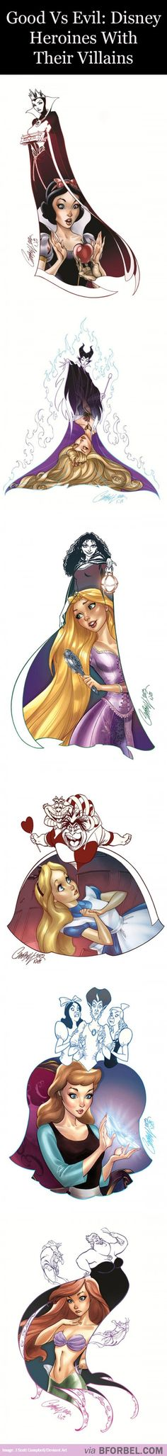 5 Disney Heroines And Their Villains…