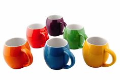 Hold and drink comfortably with these curve shape mugs. If you are looking for something stylish & colorful stuffs to enjoy coffee, hot chocolate or tea, then these coffee mugs would be the greatest gift for you. The set includes 6 mugs with 6 shiny different colors to complete your kitchen and also the mugs would be great for a perfect coffee time with your family. Price $39.50