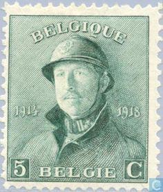 Stamps - Belgium [BEL] - King Albert I (with helmet) 1920