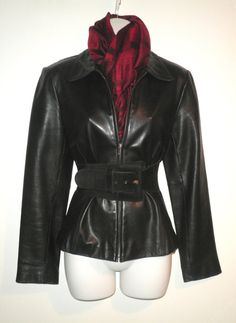 Vintage Ann Taylor Black Leather Jacket