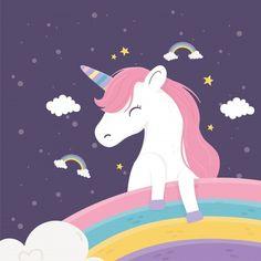 School Supply Labels, Happy Unicorn, Unicorn Pictures, Star Cloud, Rainbow Cloud, Cute Cartoon, Illustration Art, Vector Freepik, Disney Characters