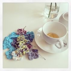 Another batch of crochet flowers made...