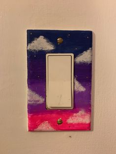 Cute light switch frame made in about 2 hours cute try it Light Painting, Diy Painting, Painting Frames, Light Switch Art, Light Switch Covers, Diy Room Decor Videos, Bed For Girls Room, Watercolor Flowers Tutorial, Beauty Room Decor