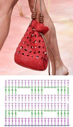 Col Crochet, Crochet Stitches Chart, Free Crochet Bag, Crochet Market Bag, Crochet Clutch, Crochet Handbags, Crochet Purses, Crochet Snowflake Pattern, Crochet Motif Patterns