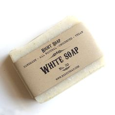 white unscented vegan soap