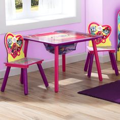 Features:  -Durable and easy-to-clean finish.  -Nick Jr. PAW Patrol collection.  -Includes one table and two chairs.  -Made of engineered wood and solid wood.  -Meets or exceeds all national safety st