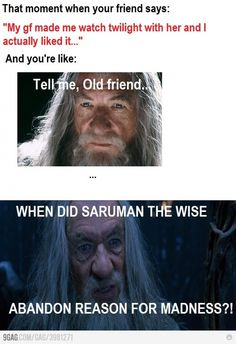 When did Saruman the Wise abandon reason for madness?