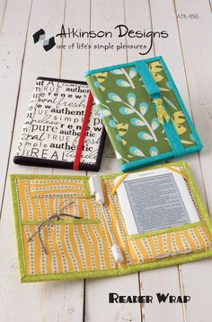 reader wrap pattern from Atkinson Design. Looooove this. perfect gift for about half the ladies I know.