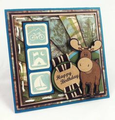 Millard the Moose on the Loose - Birthday Card by lovebeingwright - Cards and Paper Crafts at Splitcoaststampers
