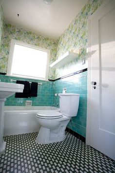 Bathroom Ideas Retro blue tiled retro bathroom design ideas   retro bathrooms, bathroom
