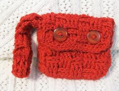 Handmade Crocheted Wrist Clutch Crocheted Cotton by luvncrafts