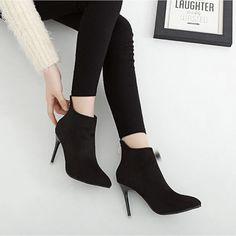 #BlackSuede #StilettoHeel #AnkleBoots #AW15 £33.99 @ ShanghaiTrends.co.uk  /  http://shanghaitrends.co.uk/black-suede-stiletto-heel-ankle-boots
