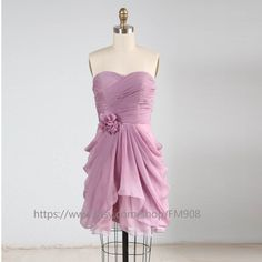 Bridesmaid Dress/party dress/strapless dress/knee by FM908 on Etsy, $108.00