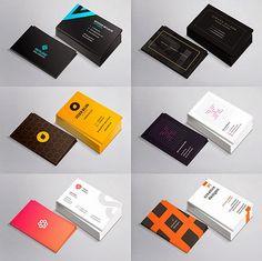 10 Plantillas de tarjetas de presentación y negocios para descargar en psd