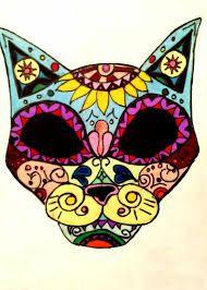 Image result for simple sugar skull cat Sugar Skull Cat, Sugar Skulls, Simple Sugar, 31 Days Of Halloween, Cats, Tattoos, Image, Candy Skulls, Gatos