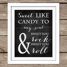 Sweet like Candy Wall Art - DIY, Instant Download, Printable, Dorm Room, Nursery, Bedroom, Art, Decor, Lyrics, Poster by chitrap on Etsy
