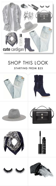 """""""Cute Cardigan"""" by styleskater7 ❤ liked on Polyvore featuring moda, American Eagle Outfitters, Chloé, Balenciaga, Valentino, NARS Cosmetics y Gorgeous Cosmetics"""