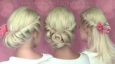 3 summer (half) updo hairstyles for medium long hair from tutorial http://www.youtube.com/watch?v=3FHrqzXnxXY