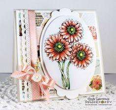 Gerbera Daisies Digital Stamp Set