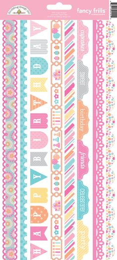 Sugar Shoppe Collection Launch Party+ Giveaway with Doodlebug Design - check out these pretty Fancy Frills card stock stickers