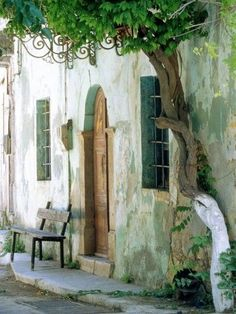 House in the village Vessa on Chios, Greece Landscapes Photographic Print - 46 x 61 cm Chios Greece, Corfu, Beautiful Homes, Beautiful Places, Beautiful Streets, Beach Landscape, Blue Aesthetic, Architectural Elements, Greek Islands