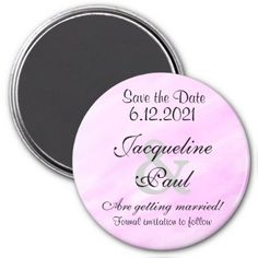 Save the Date Purple Watercolor Magnets - romantic wedding love couple marriage wedding preparations