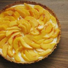 Sweet Mascarpone Peach Tart | The Adventure Bite