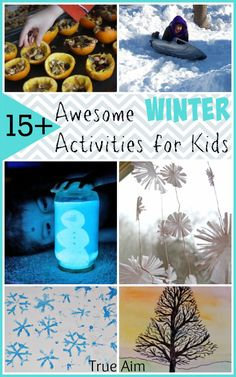 Awesome Winter activities for kids - LOVE these!