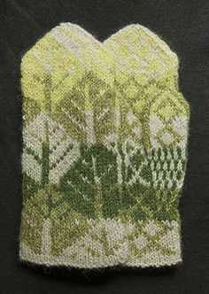 Riihivilla's spring spirit mittens & love that colour combo