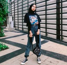 Modest Fashion Hijab, Modern Hijab Fashion, Street Hijab Fashion, Hijab Fashion Inspiration, Muslim Fashion, Look Fashion, Fashion Outfits, Ootd Hijab, Casual Hijab Outfit