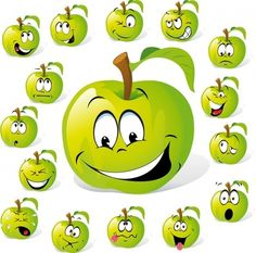 cartoon fruit expression vector