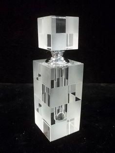 Gorgeous Crystal Art Deco Perfume Bottle